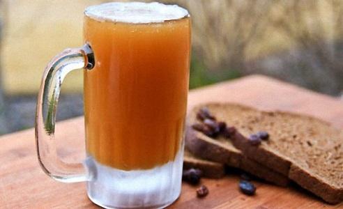 Березовый квас на основе березового сока с изюмом